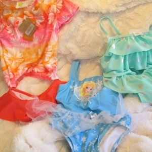 3 Bathing Suits, BRAND NEW> Size 3T